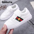 Bakkotie 2017 spring autumn children white pu leather shoe for baby boy girl fashion black sneaker brand toddle sport flat ankle