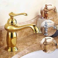 AUSWIND European Leading Green Jade Marble Basin Of Hot And Cold Water Wash Basin Faucet Copper