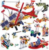 WITSTAR 599 Solar Power Building Blocks 365pcs 12 In 1 Mechanical Movement Building Block Sets Educational