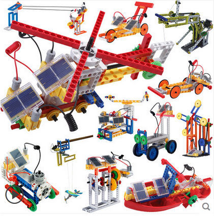12 in 1 Solar Power Engineer Building Blocks with Mechanical Movement 365pcs