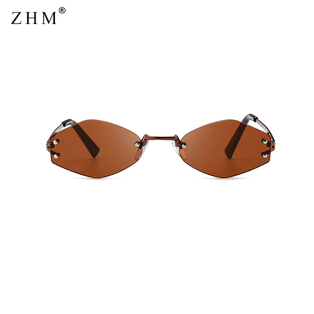 2019 Fashion Polygon Borderless Sunglasses Women Retro Frame Sunglasses Men Brand Sun Glasses Oculos De Sol Feminino UV400