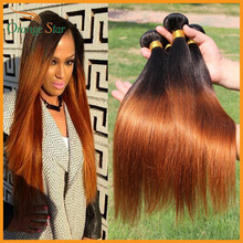 Malaysian Ombre Straight Virgin Hair 4pcs Lot 1b/30 Two Tone Straight Human Hair Weave 10-30inch Mixed Length Good Quality BS421