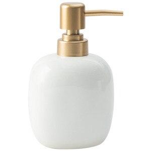 Image 3 - Nordic White Ceramic Dispenser Hand Sanitizer Soup Bottle Home Hotel Press Empty Bottle Gel Shampoo Moisture Gold Press Head