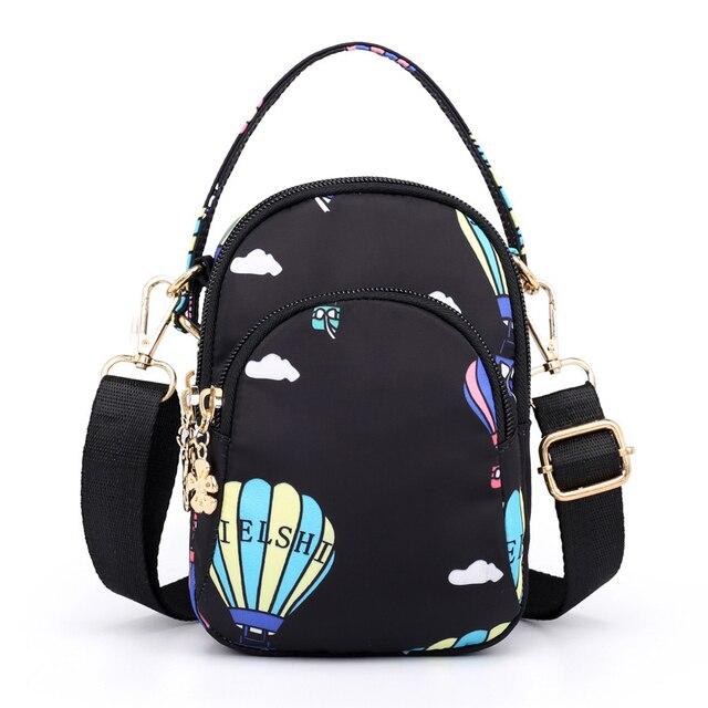 dd173854b33b Elegant Crossbody Bags Women Hot Air Balloon Cartoon Printing Casual Female  Girl Messenger Bags Handbags Versatile Daypack