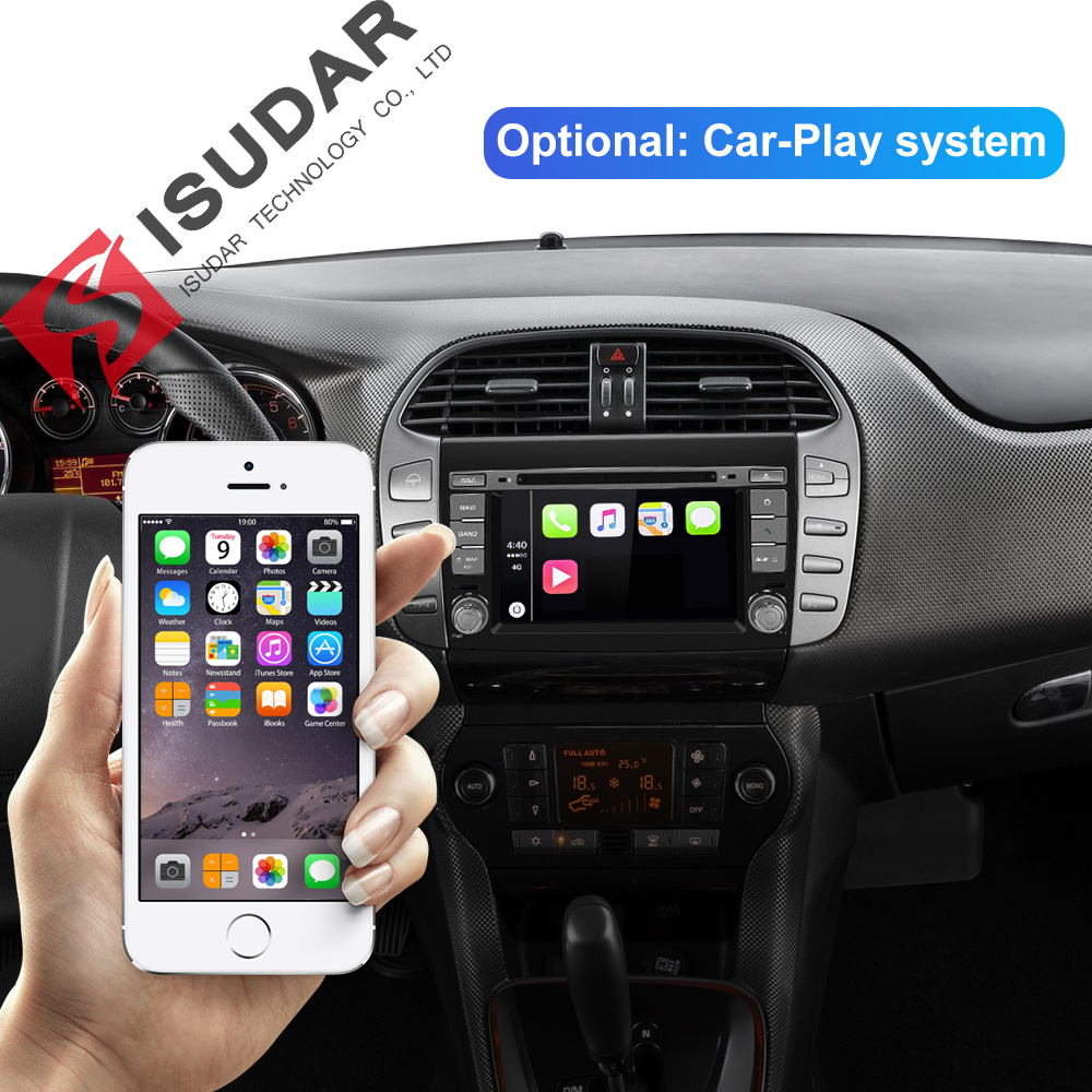 Image 3 - Isudar 2 Din Auto Radio Android 9 For Fiat/Bravo 2007 2012 Car GPS Stereo Multimedia Player Octa Core RAM 4GB ROM 64GB DSP DVR-in Car Multimedia Player from Automobiles & Motorcycles