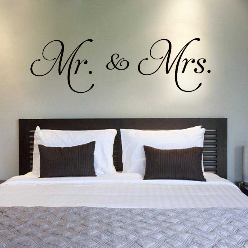 Mr. U0026 Mrs. Vinyl Wall Stickers Couple Room Decoration Mural Bedroom Love  Quote Wall Decal Home Removable Decor D542 In Wall Stickers From Home U0026  Garden On ...