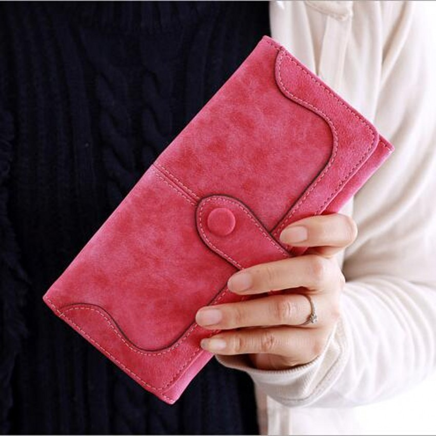 Famous brand women female ladies long leather wallets purse phone cases carteiras femininas business id credit card holder 45