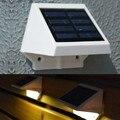 Painel De Energia Solar 4 Fence LED Gutter Luz Jardim Parede Exterior Lobby Caminho Da Lâmpada Branco Quente