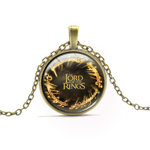 3 Colors Brand Film Round Pendant Necklace For Boy Girls Vintage Letter Pattern Necklaces Chokers Cartoon Anime Jewelry Gifts