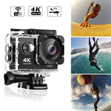 цена на Action Camera Ultra HD 4K / 30fps WiFi 2.0 170D 30M Underwater Waterproof Helmet Video Recording Cameras Sport Cam Con Wifi
