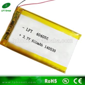 404056-3,7 v/850 mah batería recargable de iones de litio para la venta
