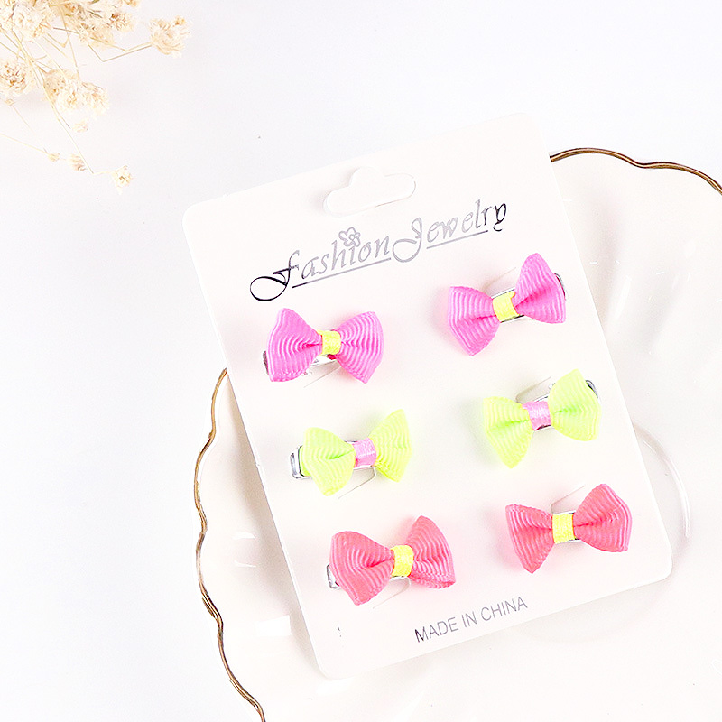 Купить с кэшбэком Hot 6PCS Chiffon Cute girls butterfly hairpin for kids Headdress Hair Clips Hair Accessories