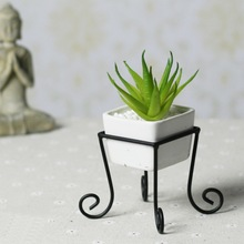 3.5″ White Tabletop Modern Square Ceramic Flower Plant Pot Garden Planting Pergola Tray Holder Cube Bonsai Home decoration