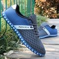 Men's Brethable Round toe Fashion Laceshoes Big size 38-47 Man Leisure Flats Outdoor Footwear Soft Bottoms Sport Shoes Sneaker