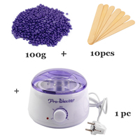 Hair Removal Wax Warmer Salon Spa Paraffin Bath for Deplitory Wax Heater Pot +10 Wooden Spatula Sticks+ 100g Wax Beans