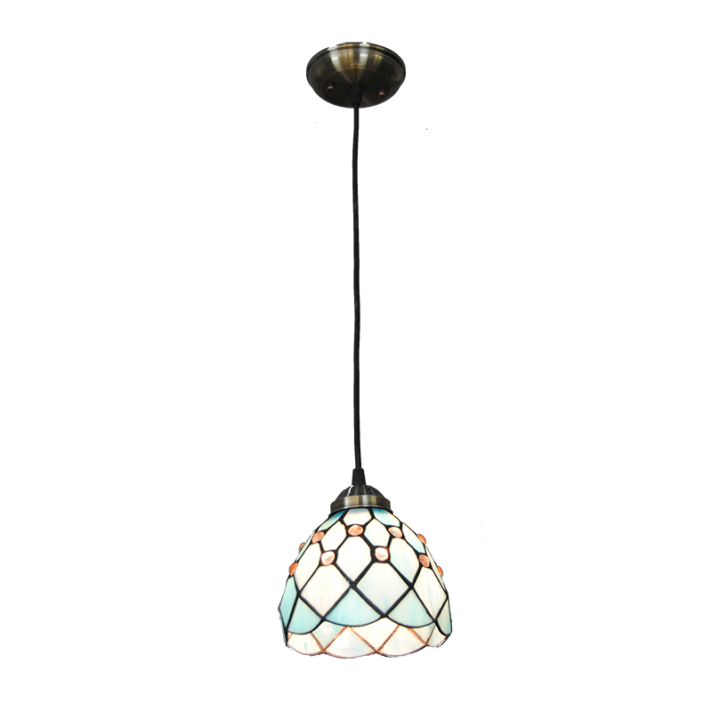 New 5 Modern Tiffany Pendant Light 1 Head European Vintage Stained Glass Shade Hanging Lamp Bedroom Living Room Lighting PL767 american pastoral tiffany pendant light stained glass for bedroom living room restaurant bar cafe hanging lamp