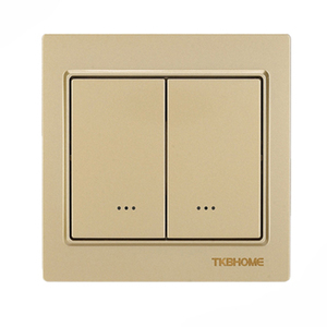 Image 2 - Z Wave plus EU Frequency 868.42MHz Two Channel Wall Mounted Switch socket TKB home TZ57 86X86mm type ( replace TZ65S TZ66S )