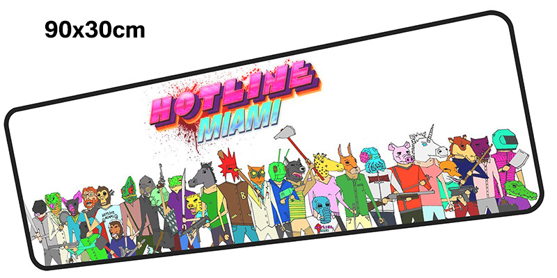 hotline miami mouse pad gamer 900x300mm notbook mouse mat large gaming mousepad Cartoon  ...