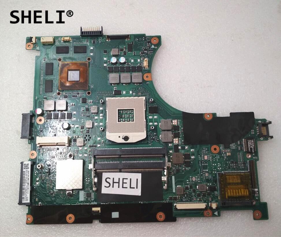 SHELI For ASUS N56VM N56VB Motherboard GT740M N14P-GE-OP-A2 2G REV 2.3 n56vm rev 2 3 laptop motherboard suitable for asus n56vm n56vj n56vz gt630m hm76 system motherboard original new
