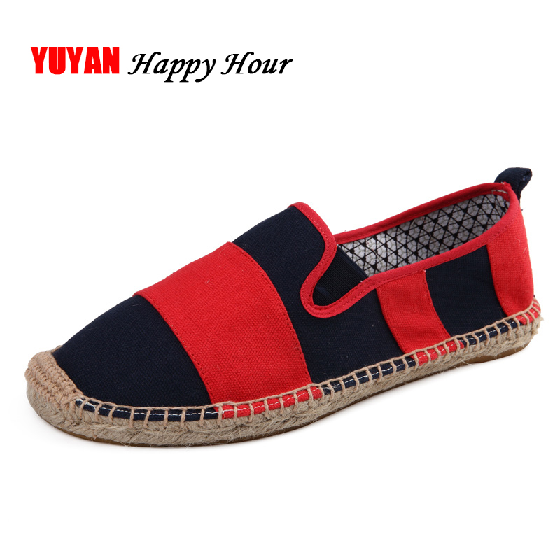 Canvas Shoes for Men Fashion Hemp Fisherman Shoes Classic Stripe Fashion Men's Canvas Shoes Male Brand Loafers Red Black K032 origianl clevo 6 87 n350s 4d7 6 87 n350s 4d8 n350bat 6 n350bat 9 laptop battery