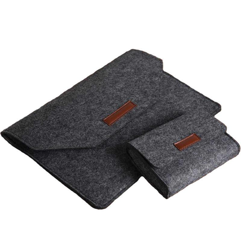 Горячая Мягкая шерстяная войлочная сумка для Apple Macbook Air Pro retina 11 12 13 15 чехол для ноутбука Xiaomi Lenovo HP Dell 13,3 15,6 чехол