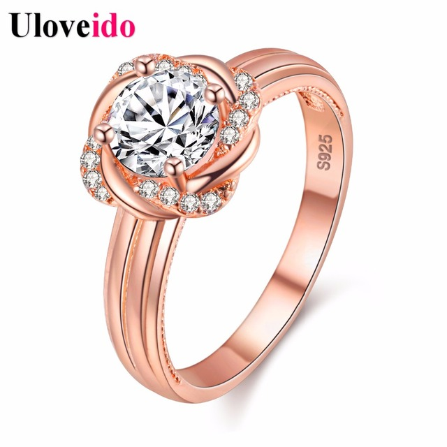 15 Off Uloveido Rose Gold Color Rings for Women Ring Female Anel