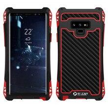 AMIRA Shockproof Heavy Duty Hybrid Robusta Armatura Cassa Del Telefono per Samsung Galaxy S10 S8 S9 Più Nota 8 9 di Carbonio copertura in fibra di