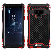 AMIRA Waterproof Shockproof Heavy Duty Hybrid Rugged Armor Phone Case for Samsung Galaxy S8 S9 Plus Note 8 9 Carbon fiber Cover