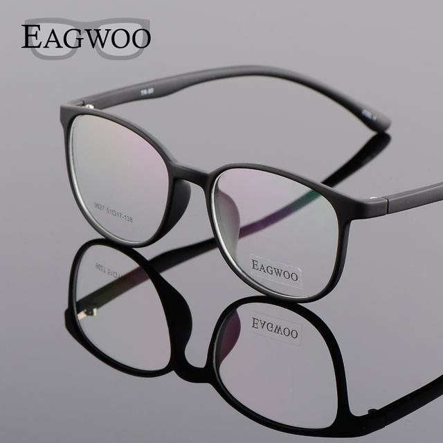 EAGWOO Silício Plástico Estudante Menino Menina Óculos Redondos Vintage Frame Ótico para Youngers Spetacles Janela Do Olho de Gato 890272