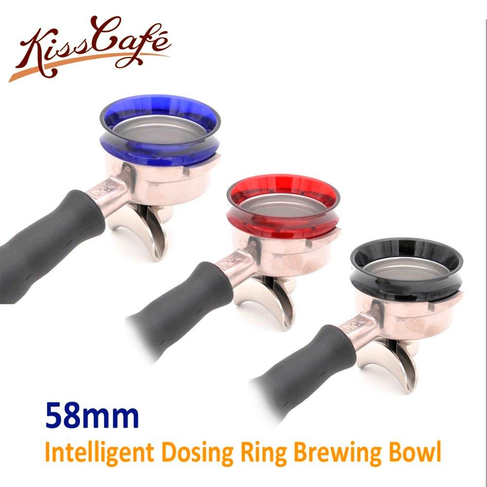 58mm Anel de Dosagem para a Preparação do Pó Anti-Fly Inteligente Tigela Magnética Ferramenta Funil Pó de Café Barista Espresso Portafilter