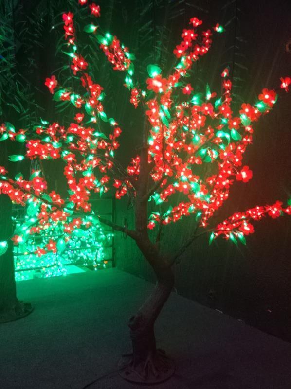 1.8 м 6ft 768 светодиоды красный цветок зеленый лист LED вишня blossomtree моделирование Свадебные патио праздник Рождество свет