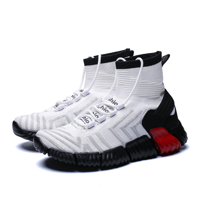 New Autumn basketball shoes couple with non-slip wear-resistant men's shoes socks shoes wear sports large size student shoes