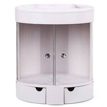 Настольный туалетный столик Пыленепроницаемая стойка для хранения косметики помада Ювелирные изделия Чехол Держатель Дисплей Стенд косметическая коробка макияж Organiz