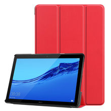 Flexible Beautiful line Ultra thin Light-weight Magnetic Flip Leather Case Tablet Cover For Huawei Mediapad T5 10in(China)