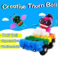 400pcs Set Assemble 3D Puzzle DIY Puff Ball Squeezed Ball Creative Thorn Ball Handmade Educational Toys