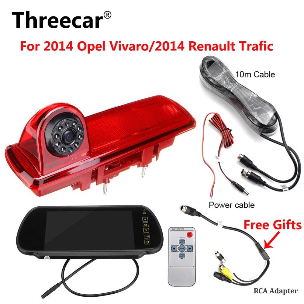 Car Rear View Brake Light Backup Camera for OPEL VAUXHALL VIVARO RENAULT Trafic Auto Parking Reverse