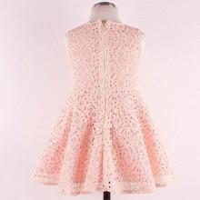 Newest Summer Girls Dress Elegant Princess Dress With Flower Fashion Lace Dress