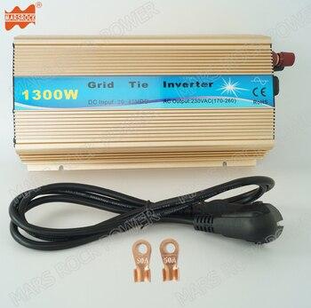 Бесплатная доставка 1300 W сетки галстук MPPT инвертор 10,8-30VDC или 20-45 В постоянного тока до 110 или 220 V Чистая синусоида солнечный инвертор