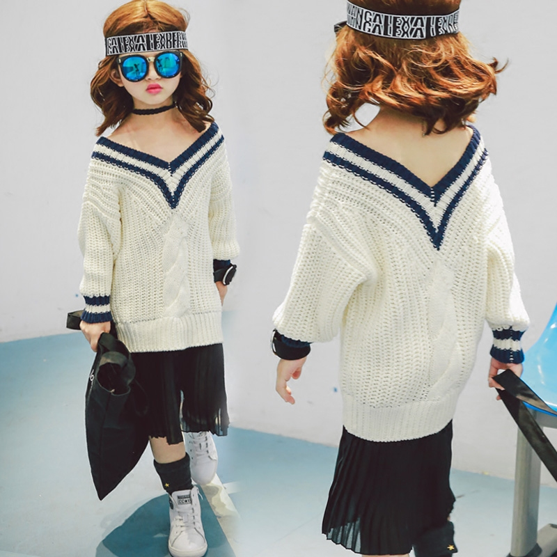 ФОТО girls sweater autumn 2016 new korean children