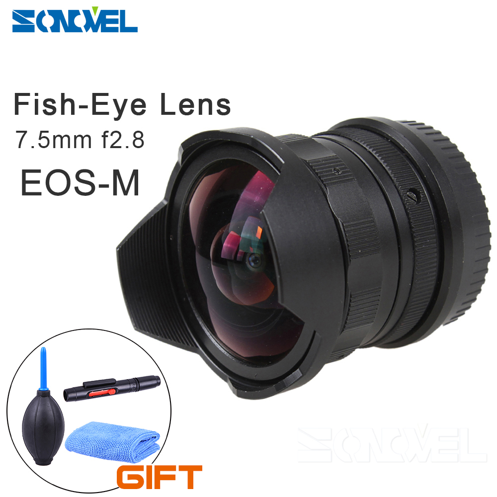 7.5mm F2.8 Fisheye Manual Fish Eye Lens For Canon EOS M M1 M2 M3 M5 M6 M10 EF-M  Camera lens ismartdigi lp e6 7 4v 1800mah lithium battery for canon eos 60d eos 5d mark ii eos 7d
