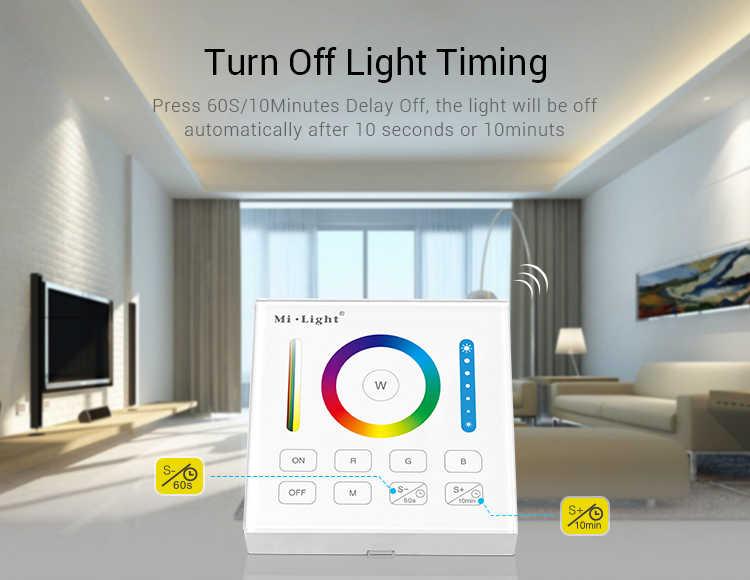 Contrôleur à distance Original mi. Light B0 de panneau en verre intelligent RGBCCT rvb RGBW avec la fonction de Ti mi ng pour la lumière de bande de 5050 3528 5630 LED