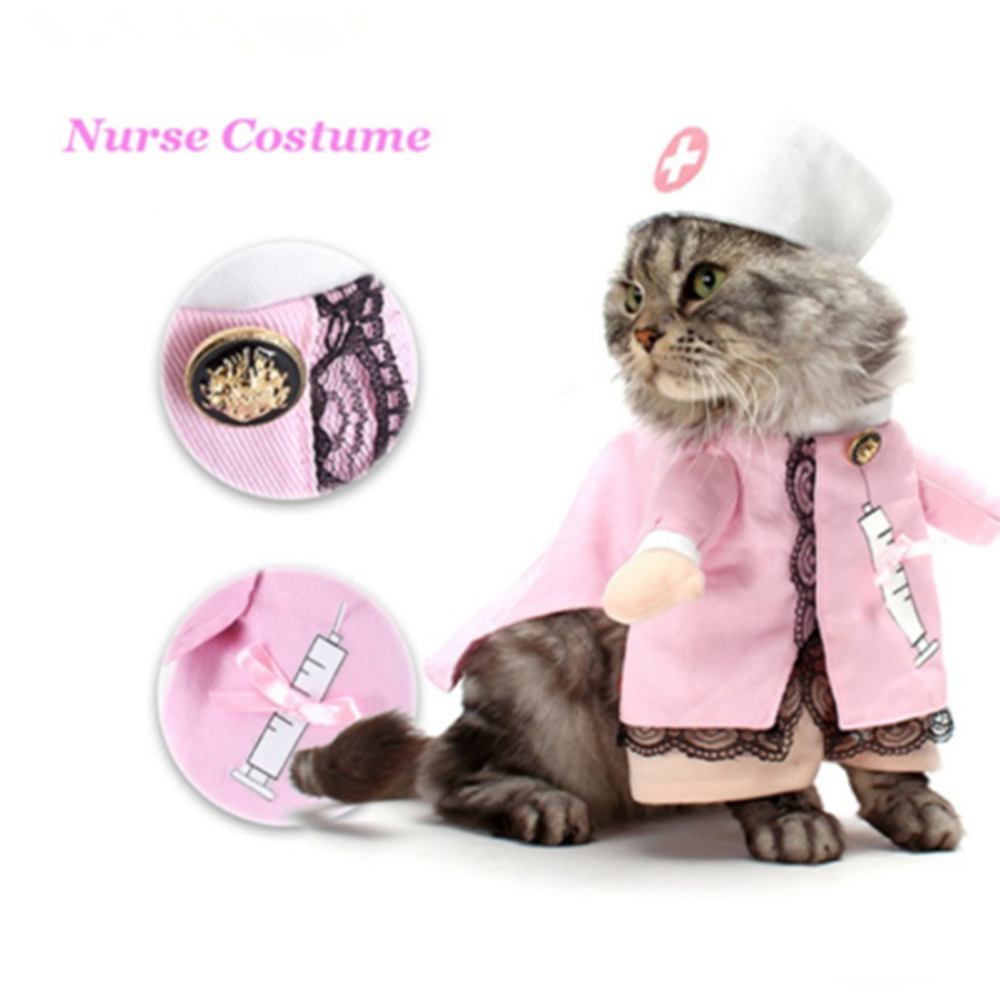 Funny Uniforrm Cat Halloween Costumes  5