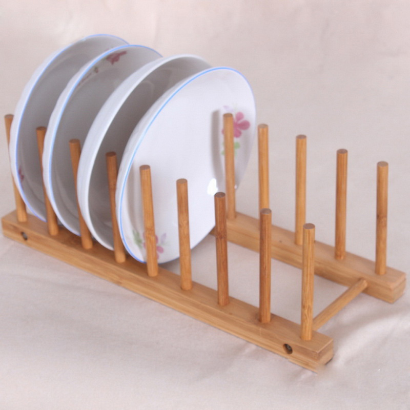 1pcs Wooden Drainer Plate Stand Wood Dish Rack 7 Pots Cups Display Holder Kitchen-in Storage Holders \u0026 Racks from Home \u0026 Garden on Aliexpress.com   Alibaba ... & 1pcs Wooden Drainer Plate Stand Wood Dish Rack 7 Pots Cups Display ...