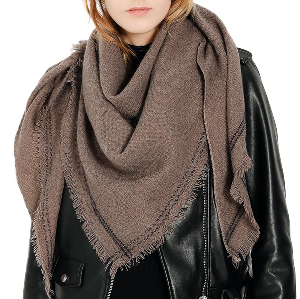 Good Quality Warm Winter Scarf Female Wool Plaid Scarf Women Cashmere Scarves Lattice Long Shawl Wrap Blanket Tippet