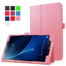 Funda Tablet voor Samsung Galaxy tab een 10.1 t580 10.1 inch Tablet case PU Leather Stand sm-t585 voor Samsung 10.1 tablet cover(China)