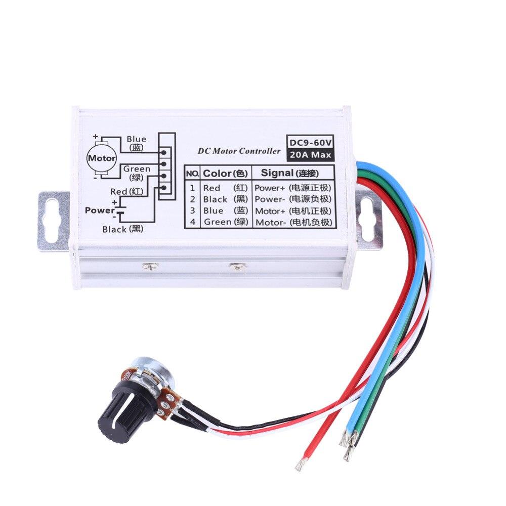 Disciplined Dc 9v 12v 24v 48v 60v 20a Motor Speed Controller Regulator Driver Pwm Electrical Equipments & Supplies Motor Controller