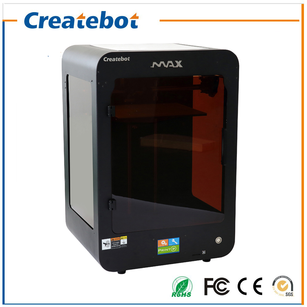 New Createbot Max Printer Touch Screen single Extruder Semi-Auto Leveling Full Metal 3D Printer Kit Include All 3D Printer Parts smartable building blocks of my world minecrafted lepin 4in1 steve with weapon figures brick model toys for children gift lr 823