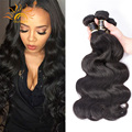8A Indian Body Wave Virgin Hair 4pcs/lot Vip Beauty Hair Raw Indian Hair Bundles Natural Black 100% Remy Human Hair Weave Sale
