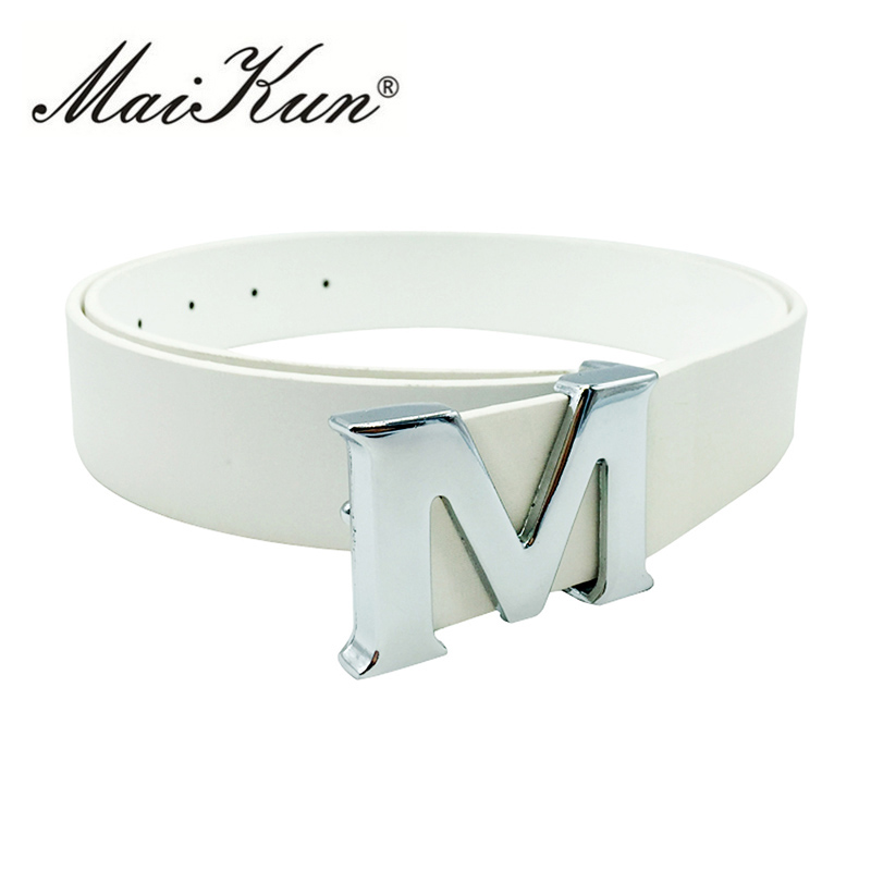 Maikun Belts for Women belt High Quality PU Leather waistband for Jeans Skirt