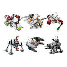 10359-10364 Space Wars Microfighters Republic Gunship Arc-170 Starfighter Building Blocks Compatible With Sermoido Brick 722pcs space wars 05030 vader s tie advanced vs a wing starfighter model building blocks toys bricks compatible with lego